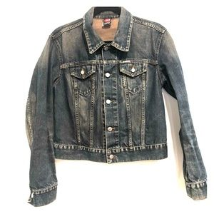 90s Vintage Diesel Jean Jacket Womans Large